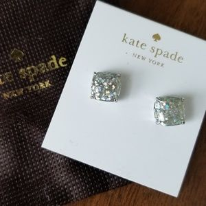Kate Spade Mini Small Square Stud Earrings Opal